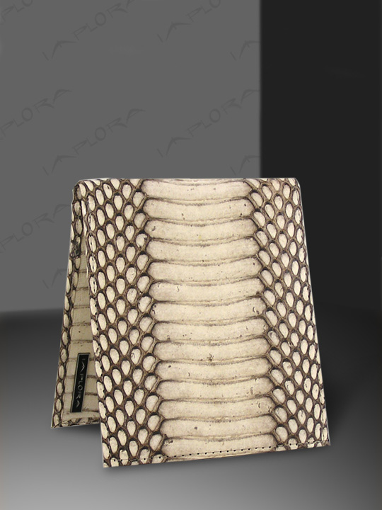 Snakeskins Implora Natural Cobra Snakeskin Wallet, Belly