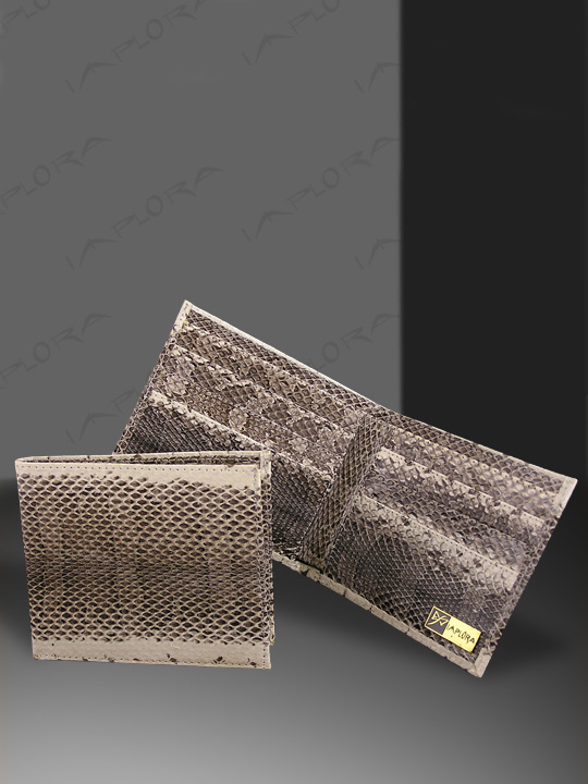 Snakeskins Implora Natural Dog-Faced Snakeskin Wallet