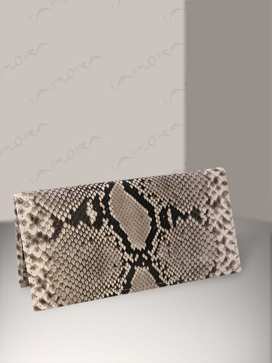 Snakeskins Implora Natural Python Checkbook Cover