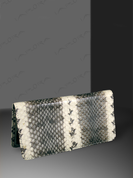 Snakeskins Implora Natural Dog-Faced Snakeskin Checkbook Wallet