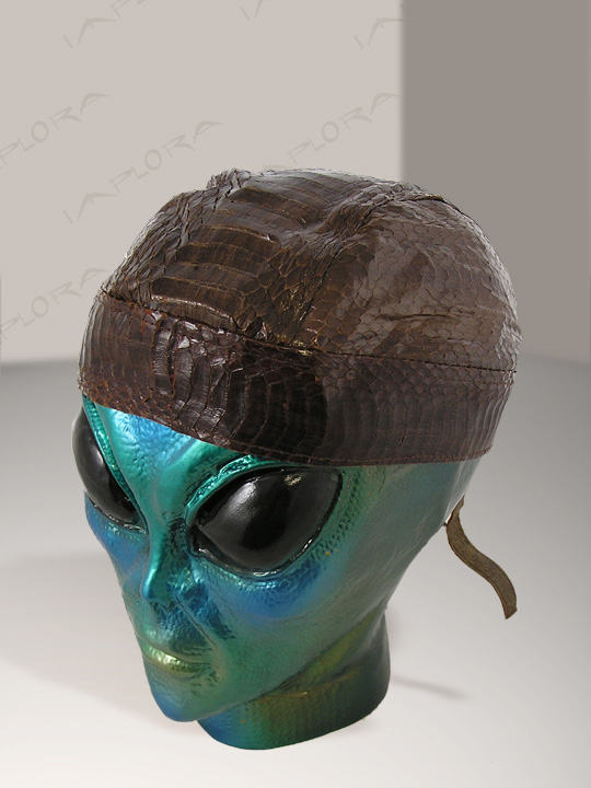 Snakeskins Dark Brown Cobra Snakeskin Doorag Head Wrap