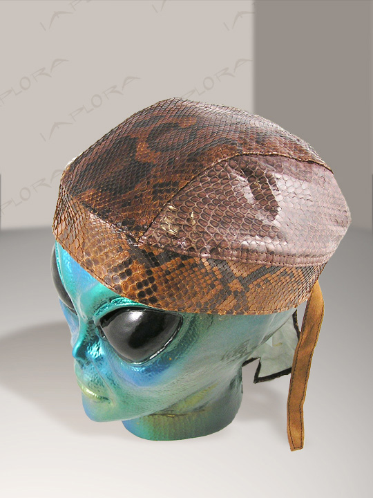 Snakeskins Brown Burmese Snakeskin Doorag Head Wrap