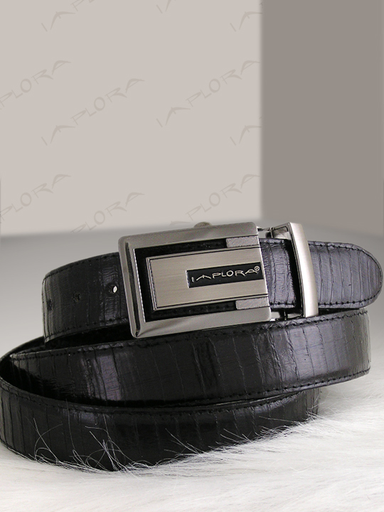Snakeskins Implora Black Cobra Snake Skin Belt 2 Designs