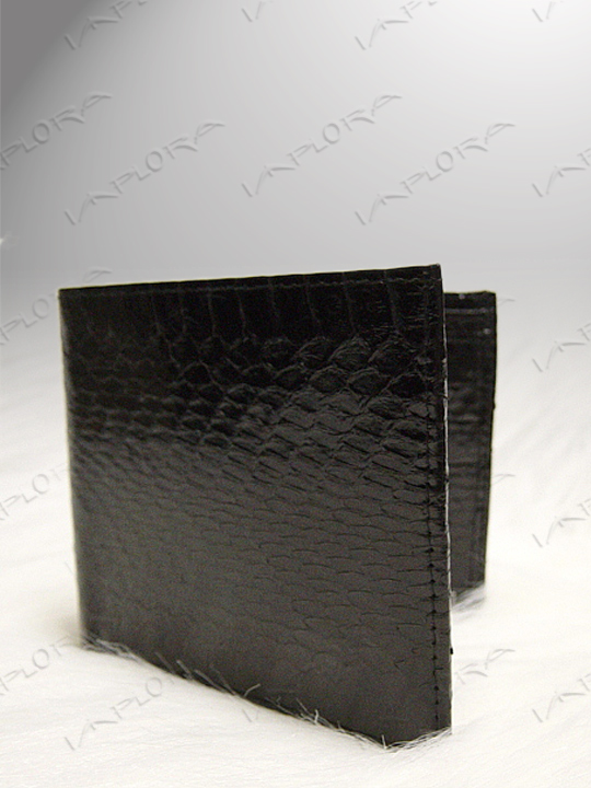 Snakeskins Implora Black Cobra Snakeskin Wallet
