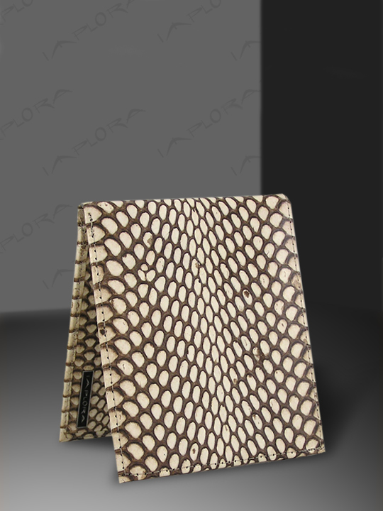 Leather Implora Natural Cobra Snakeskin Wallet w/ID