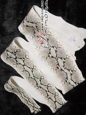 Snakeskins Implora Natural Python Snakeskin Garment Quality