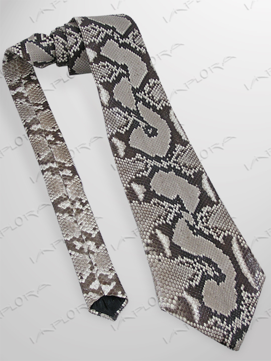 Snakeskins Implora Natural Python Snake Skin Tie