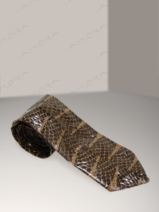 Snakeskins Implora Brown Mangrove Snake Skin Tie