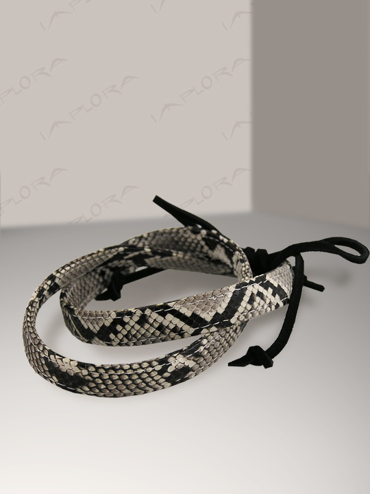 Snakeskins Implora Natural Python Skin Hatband 0.5W
