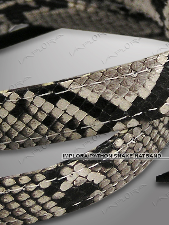 Implora Natural Python Skin Hatband 0.5W