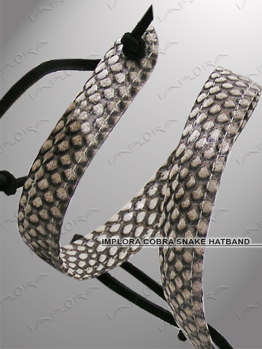 Implora Natural Cobra Skin Hatband 0.5W