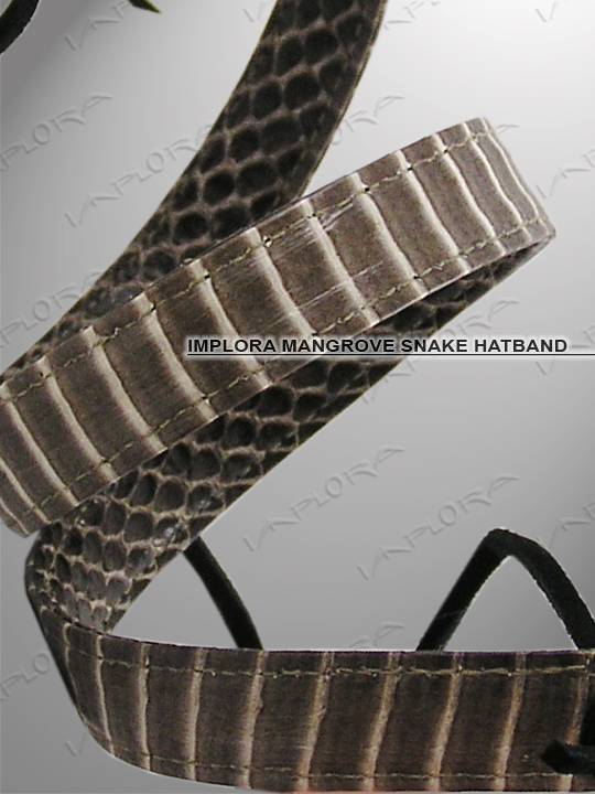 Implora Natural Cobra Skin Hatband 0.5W Deluxe