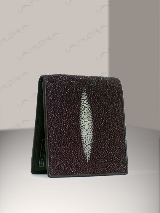 Stingray Leathers Implora Burgundy Stingray Wallet