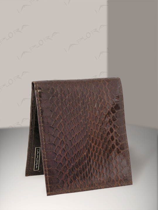 Snakeskins Implora Brown Cobra Snakeskin Bifold