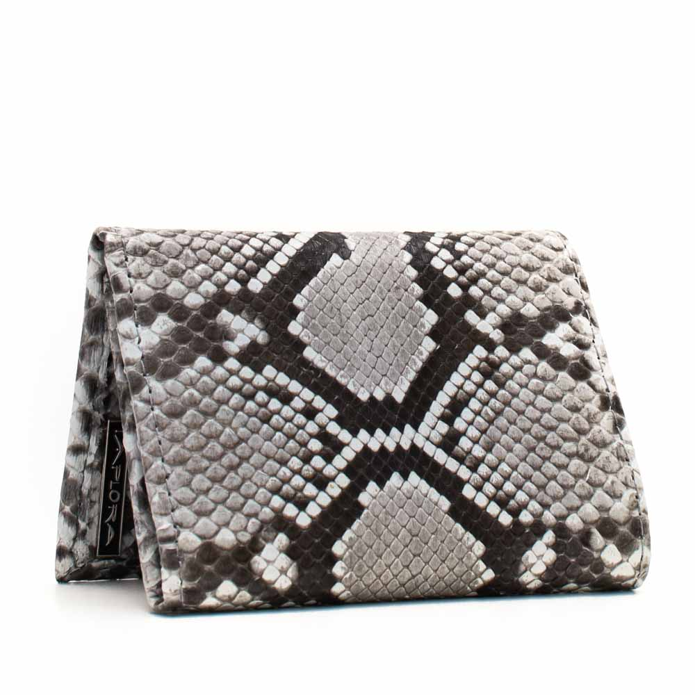 Leather Implora Natural Python Trifold Wallet