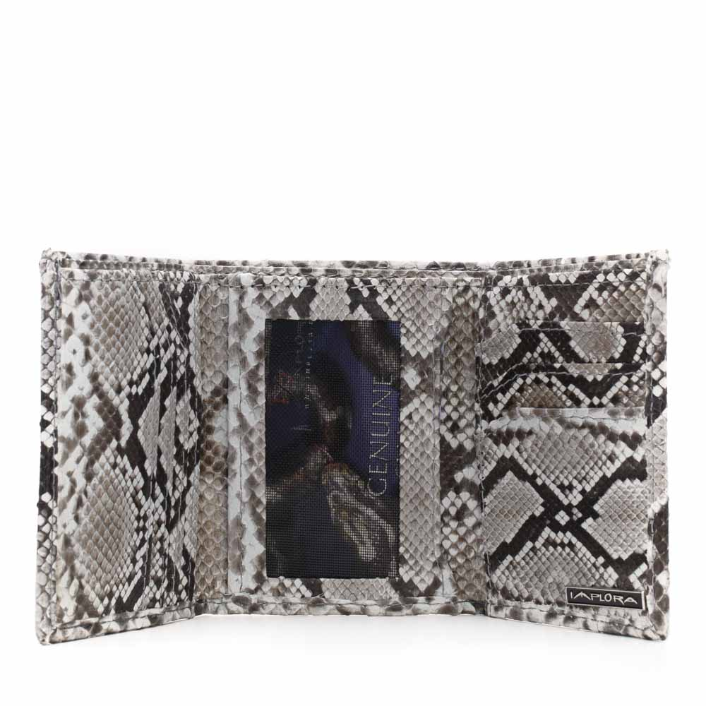 Implora Natural Python Trifold Wallet