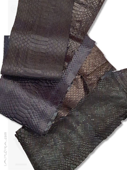 Snakeskins  Snake Skin Scraps Pieces Assorted Black Dark Colors
