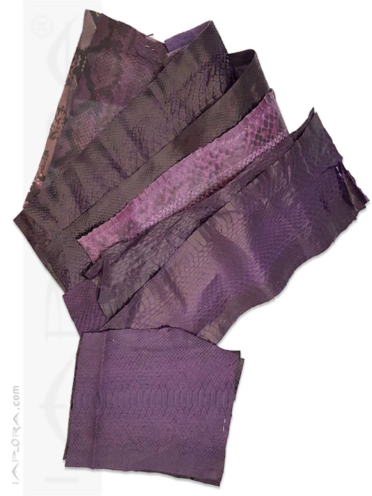 Snakeskins Snakeskin Scraps Purple Violet Assorted Color