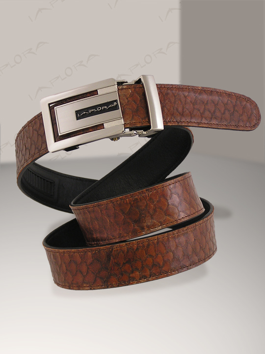 Fish Skins Implora Brown Nile Tilapia Skin Belt
