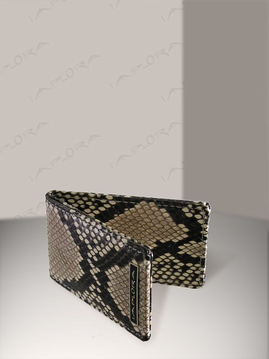 Snakeskins Implora Natural Python Magnetic Money Clip