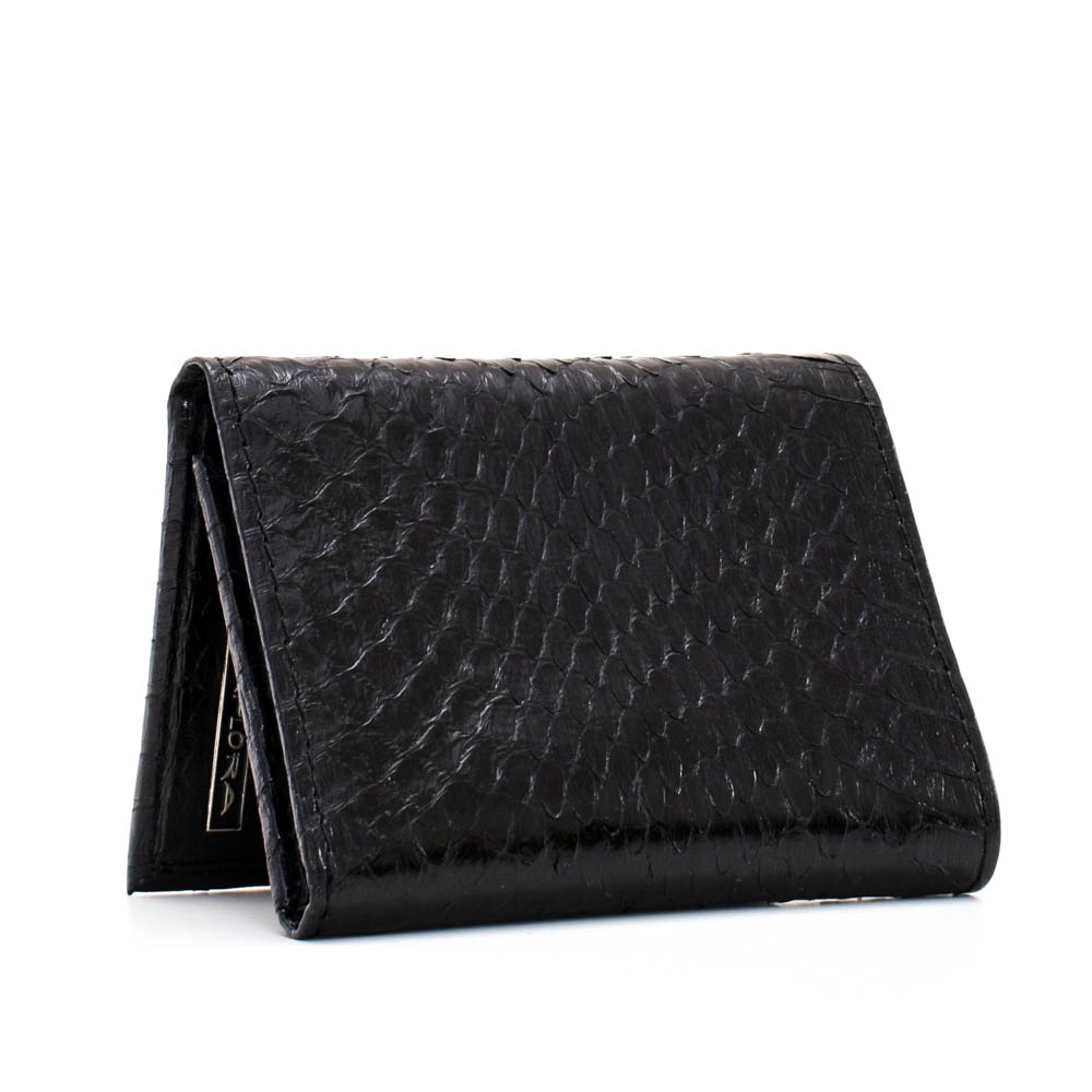 Snakeskins Implora Black Cobra Trifold Wallet