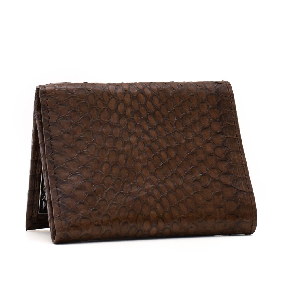 Snakeskins Implora Brown Cobra Trifold Wallet