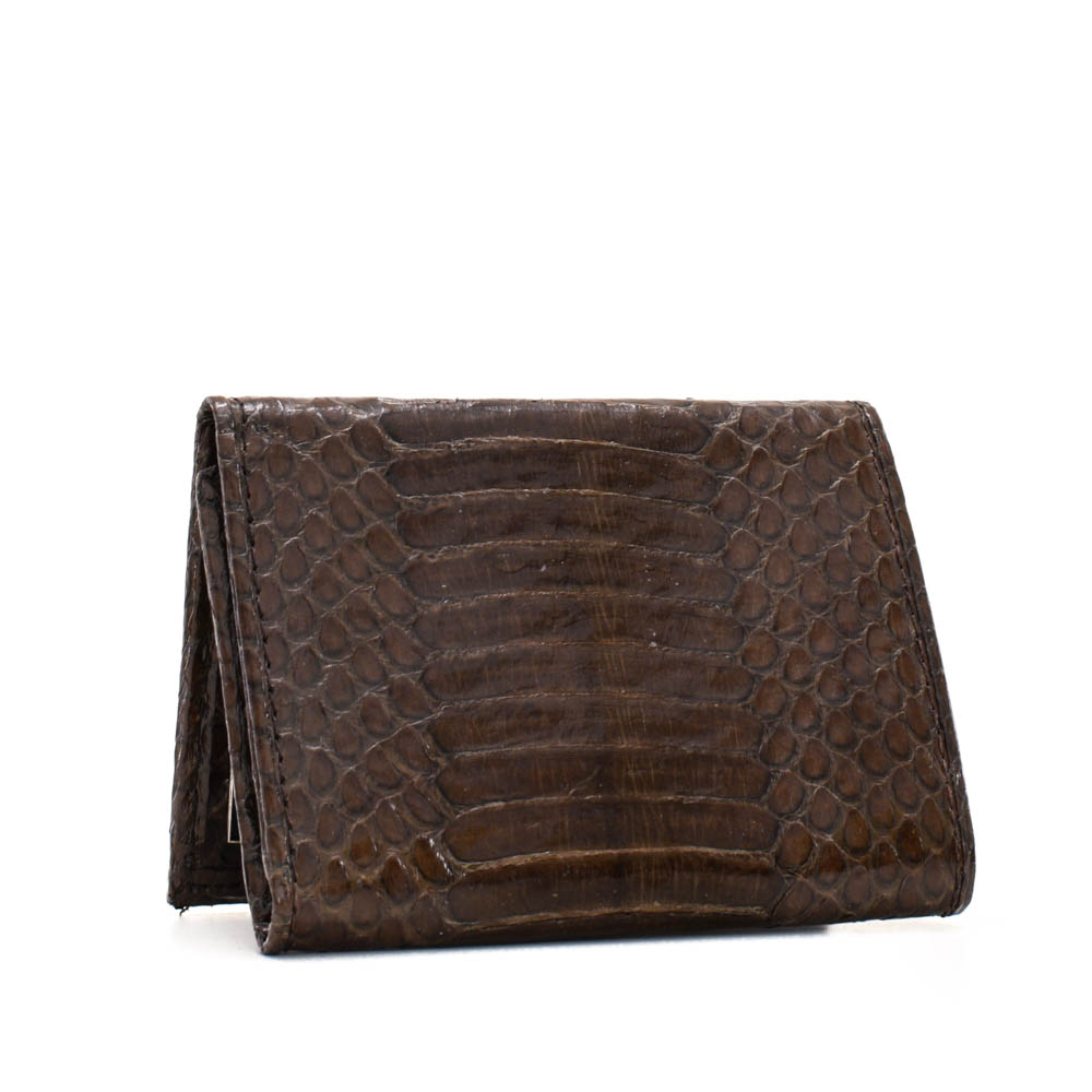 Snakeskins Implora Brown Cobra Trifold Wallet, Belly