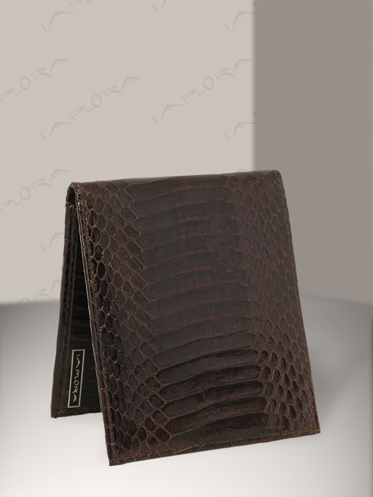 Snakeskins Implora Brown Cobra Snakeskin Bifold Belly