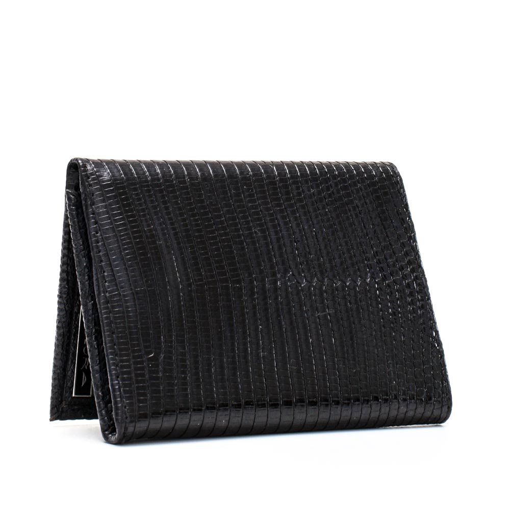 Implora Black Monitor LizardTrifold Wallet