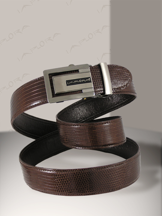 Lizard Skins Implora Brown Salvator Monitor Lizard Belt