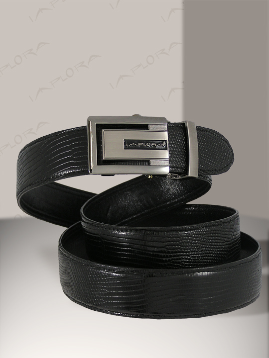 Implora Black Salvator Monitor Lizard Belt