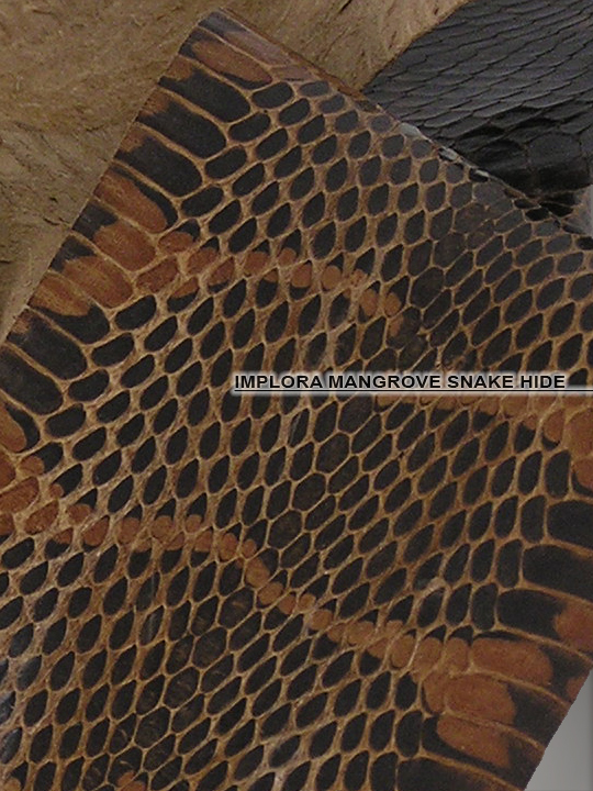 Implora Brown Mangrove Snake Skin