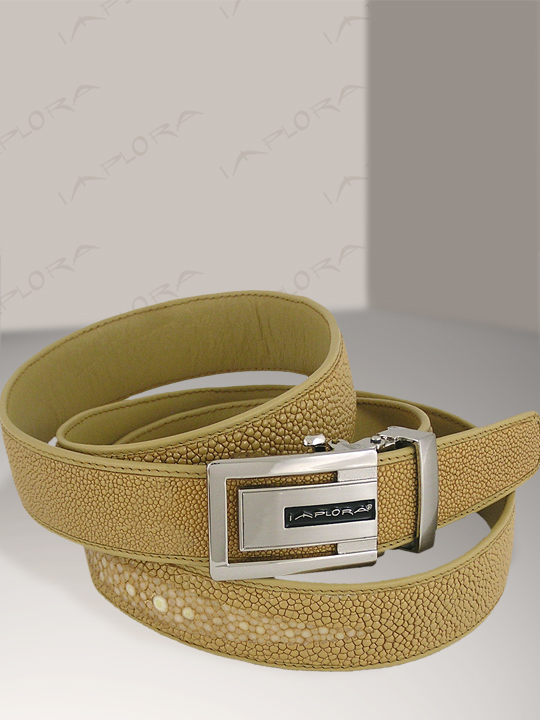 Stingray Leathers Implora Tan Stingray Leather Belt