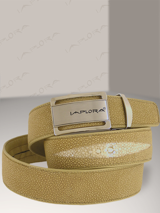 Stingray Leathers Implora Tan Stingray Leather Belt 1.5W