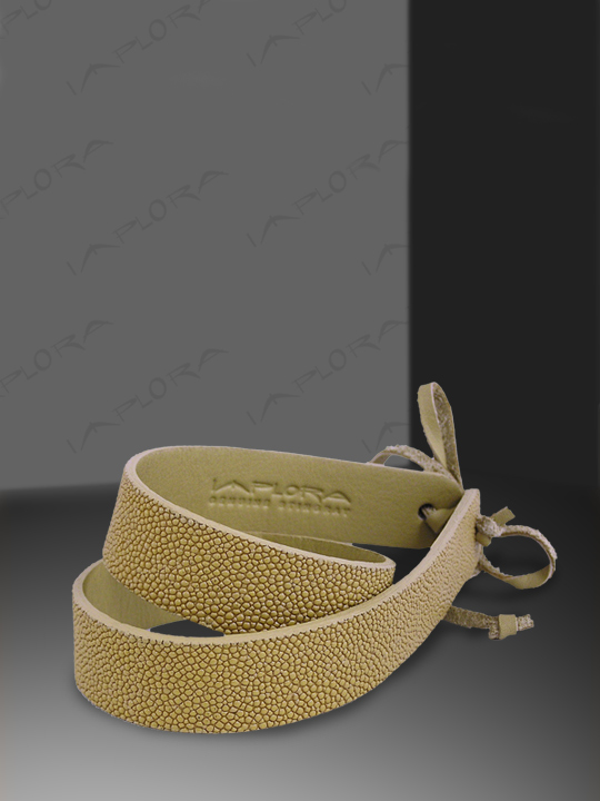 Stingray Leathers Implora Tan Stingray Skin Hatband 1W