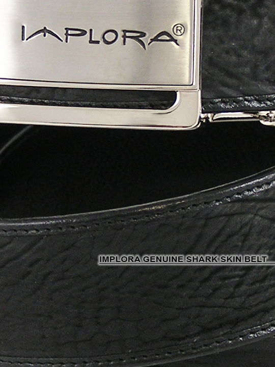 Implora Black Shark Skin Belt 1.5W