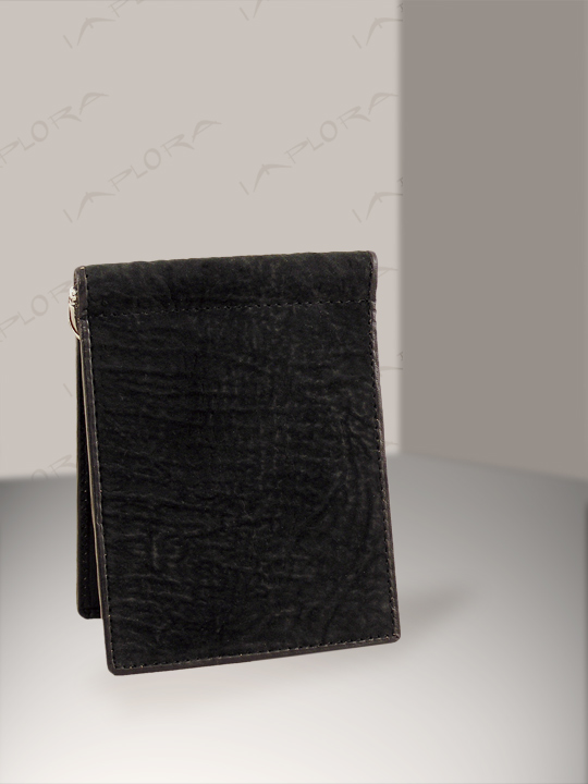 Leather Implora Black Shark Money Clip Wallet