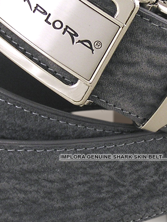 Implora Gray Shark Skin Belt 1.5W