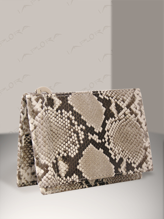 Snakeskins Implora Natural Python Wallet Money Clip w/ID