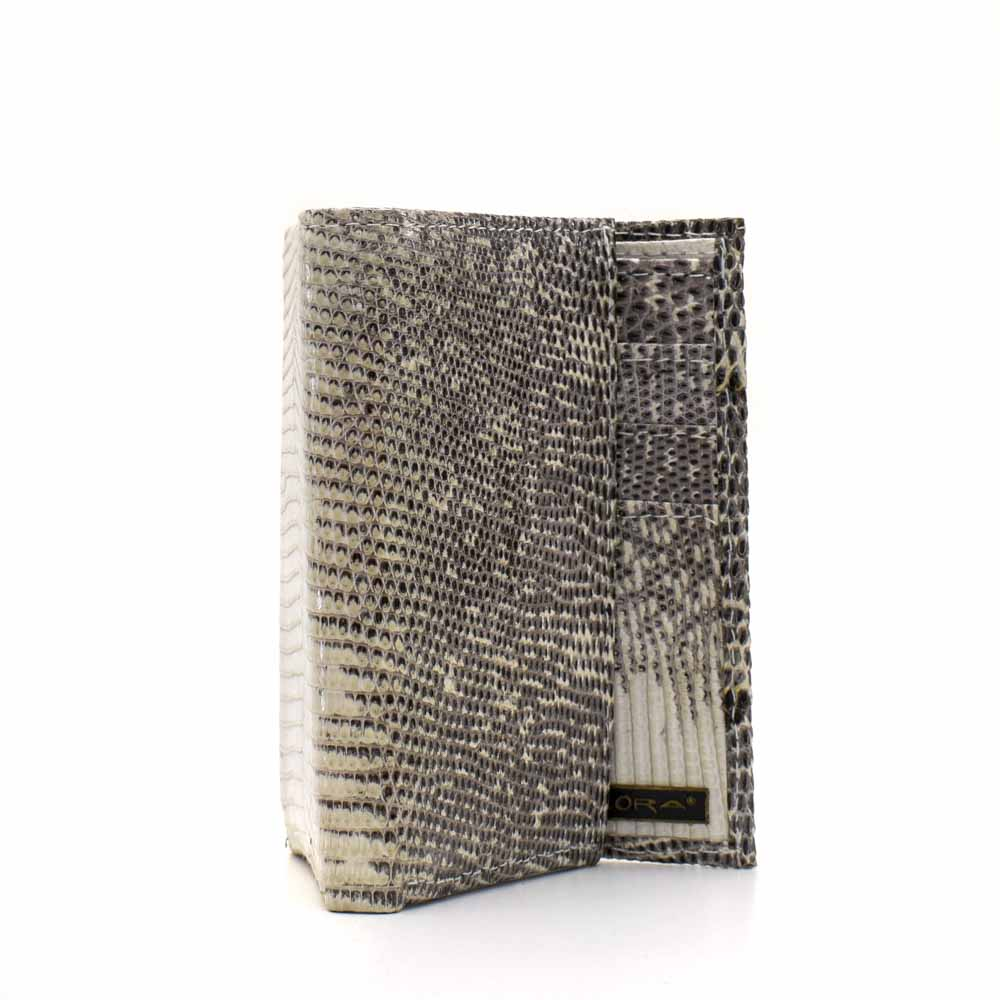 Implora Natural Lizard Trifold Wallet w/ID, Belly