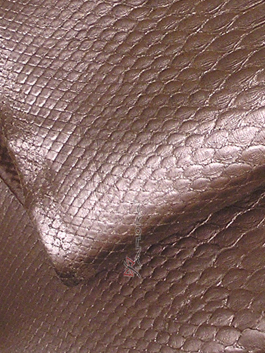 Solid Bronze Metallic Python Snakeskin Belly