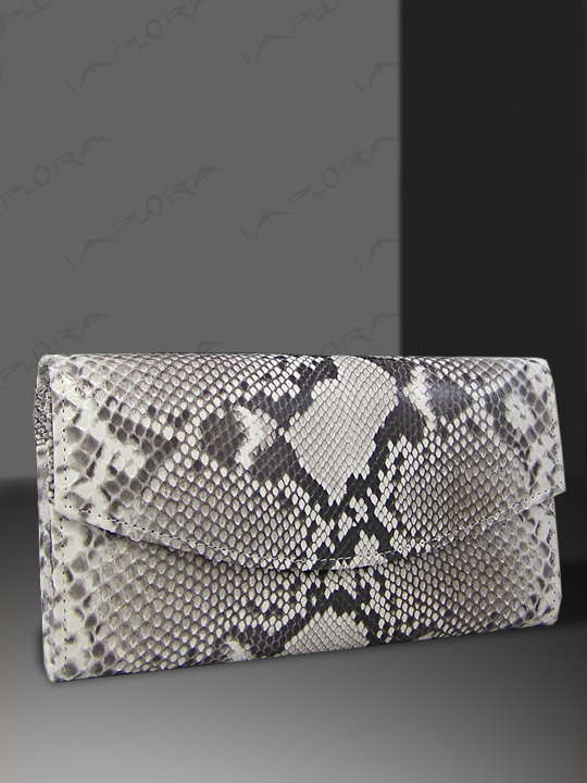 Implora Natural Python Skin Lady Purse