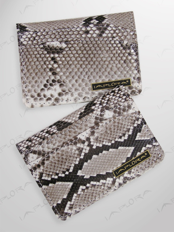 Implora Natural Python Card Wallet w/ID