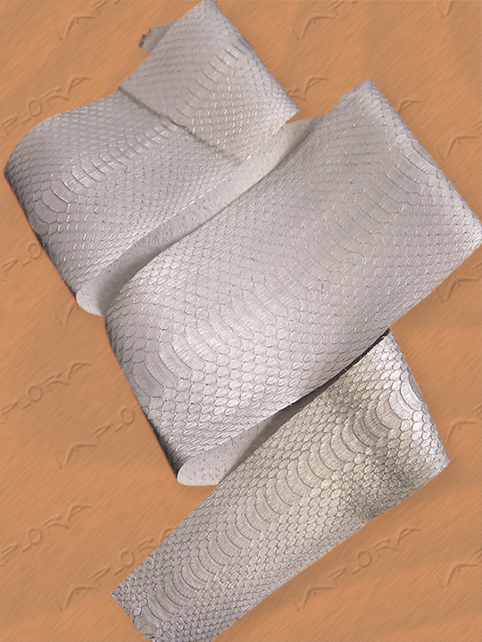 Snakeskins Implora Silver Cobra Snakeskin Belly