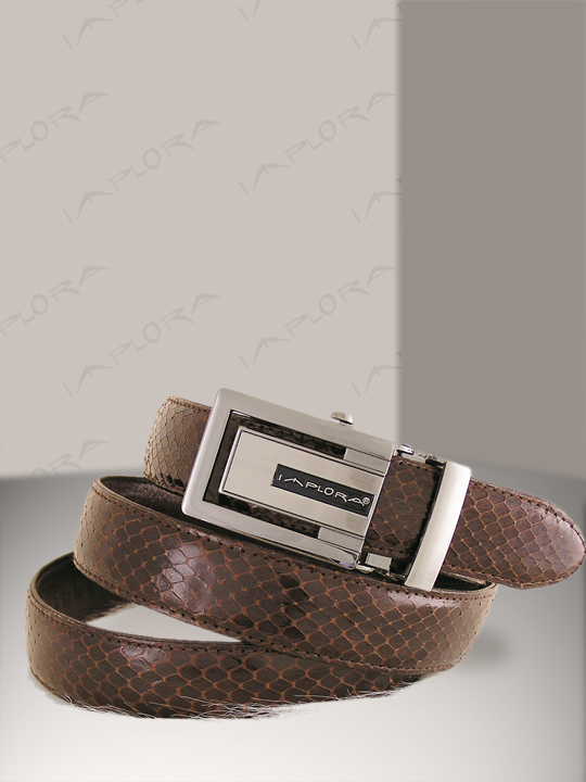 Snakeskins Implora Brown Cobra Snake Skin Belt XXL
