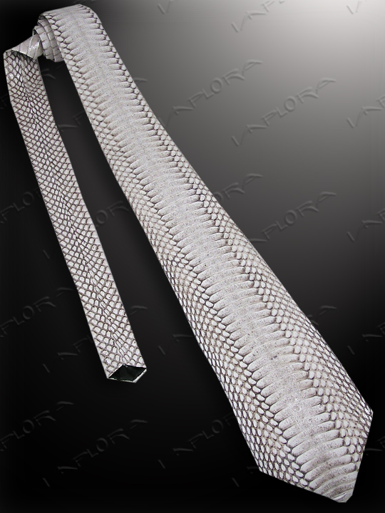 Snakeskins Implora Natural Cobra Belly Snake Skin Tie