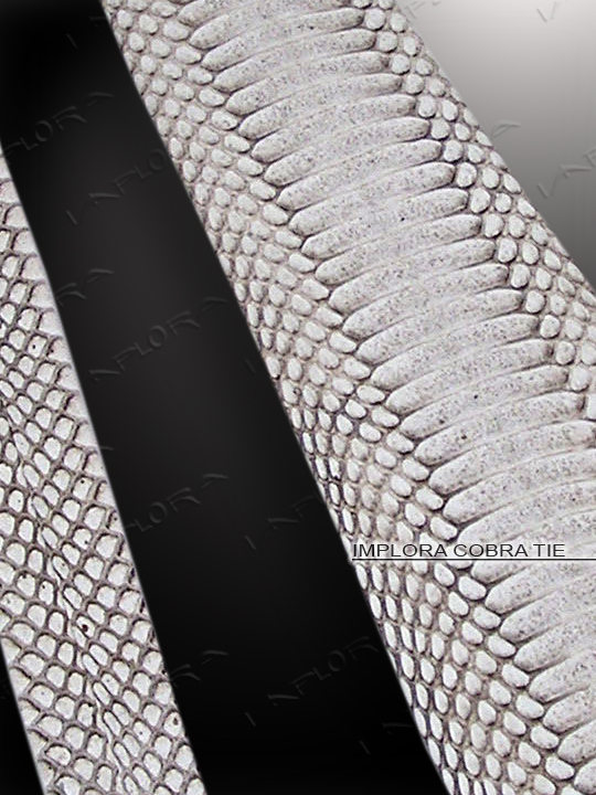 Implora Natural Cobra Belly Snake Skin Tie