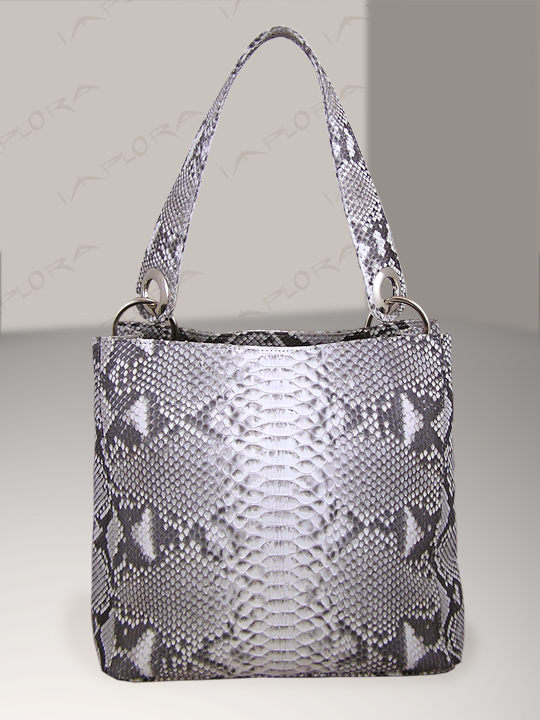 Snakeskins Implora Natural Python Snake Skin Soho Bag