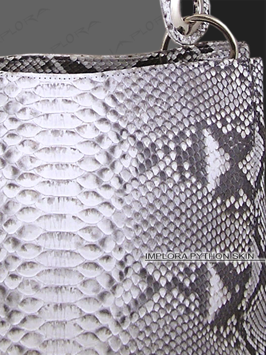 Implora Natural Python Snake Skin Soho Bag