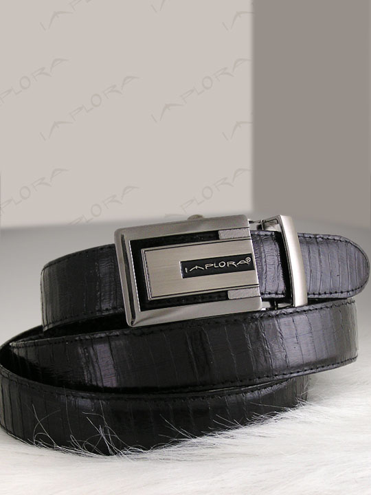 Snakeskins Implora Black Cobra Snake Skin Belt Belly XXL